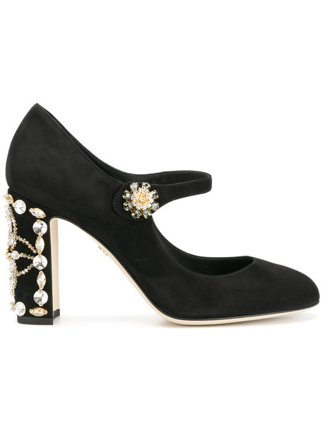 women embellished pumps leather suede black shoes