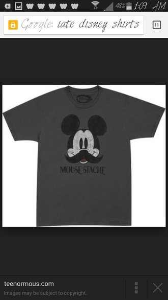 mickey mouse grey t-shirt moustache