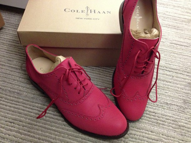 shoes oxfords pink shoes