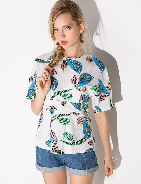 blouse, floral, floral top, cute, summer, summer top, cute ...