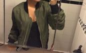 jacket,green,bomber jacket
