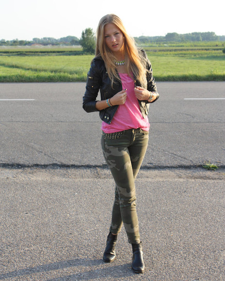 jeans fashion military girly