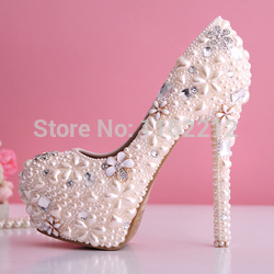 Online Shop AM77 Light Pink Pearls Crystals Zapatos Mujer Ladies Pumps  Women Shoes Prom Party High ... b3494524c