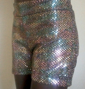 shorts,rainbow,gold,sequins,shiny,party,cheerleading,dance,short,confetti,colorful,stretchy,multicolor