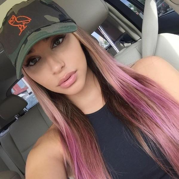 hat drake ovoxo camouflage orange owl pink hair ovoxo