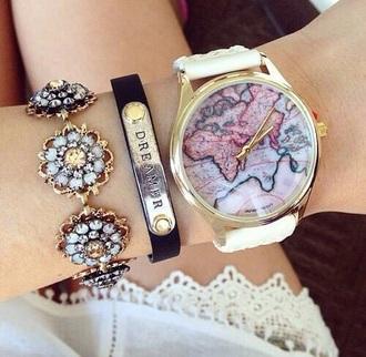 jewels watch gold gold watch globe watch