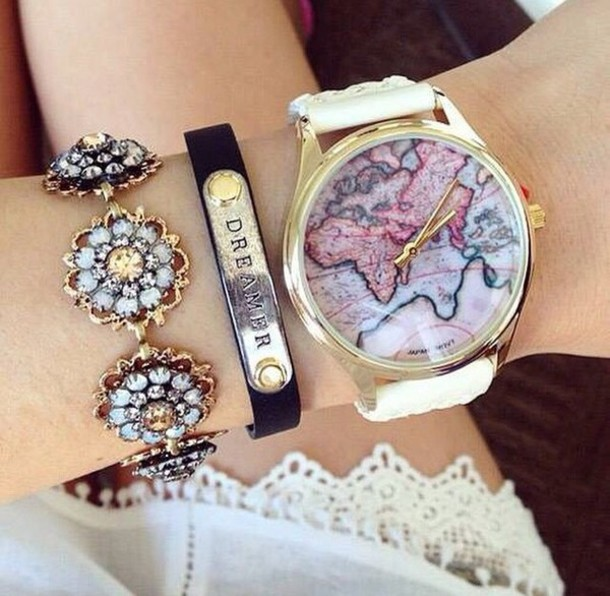 jewels watch gold gold watch globe watch world clock watch gold watch