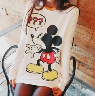 sweater winter sweater sweatshirt oversized sweater cute sweaters mickey mouse mickey mouse sweater pull mickey white disney disney clothes disney sweater