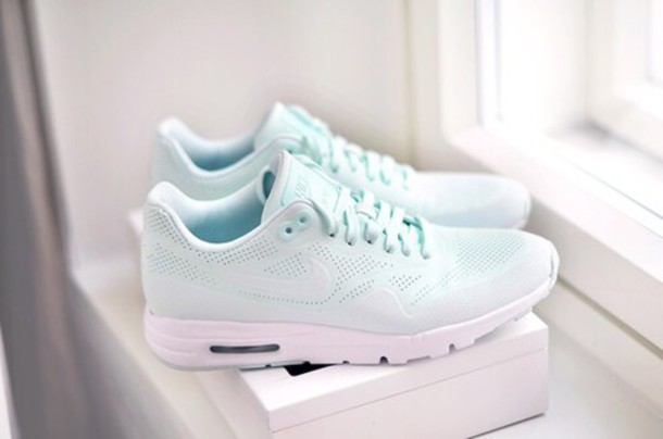 shoes nike running shoes mint pastel nike pastel sneakers blue seakers