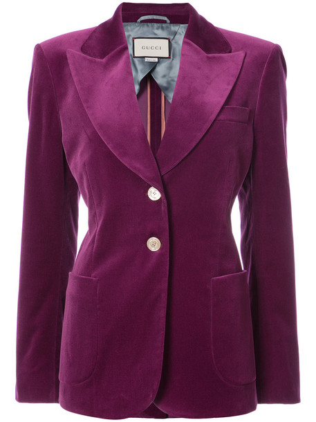 gucci blazer women spandex cotton purple pink jacket