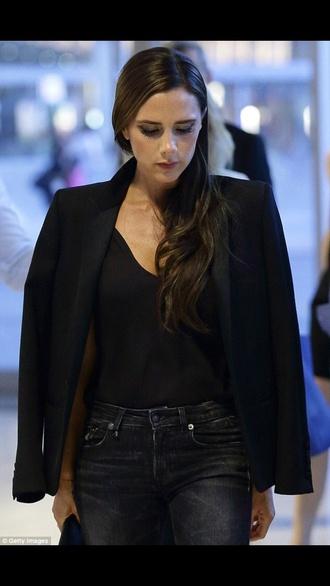 jacket victoria beckham black blazer