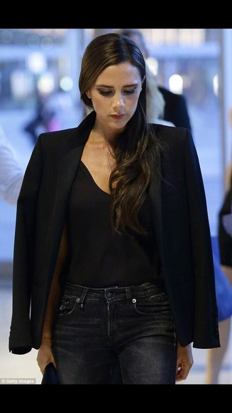 jacket black blazer victoria beckham