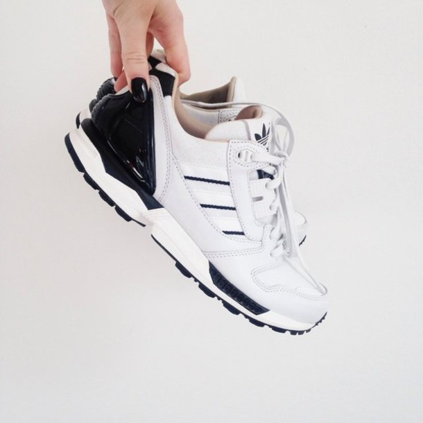 shoes sneakers white sneakers black and white shoes swag adidas adidas wings tumblr tumblr outfit hipster cool style black sneakers black shoes white shoes women women sneakers black white