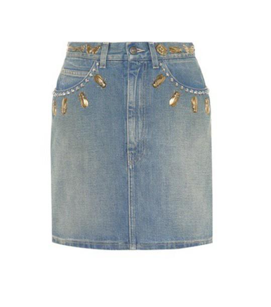 gucci skirt denim skirt denim embellished embellished denim blue