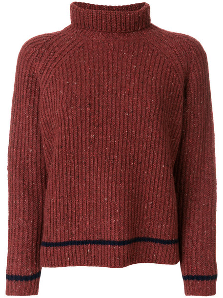 jumper turtleneck women wool red sweater