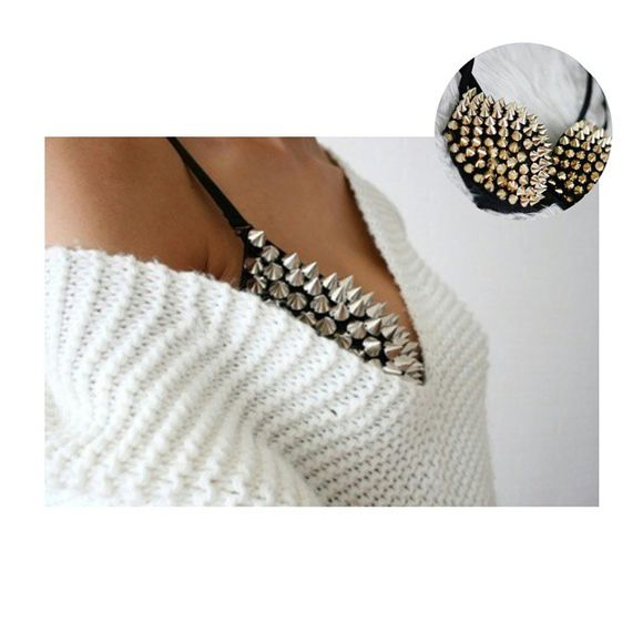 studs top taches tachas brasier bra crop tops
