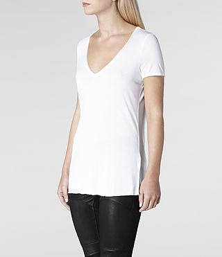 AllSaints Silk Biker Tee | Womens T-Shirts