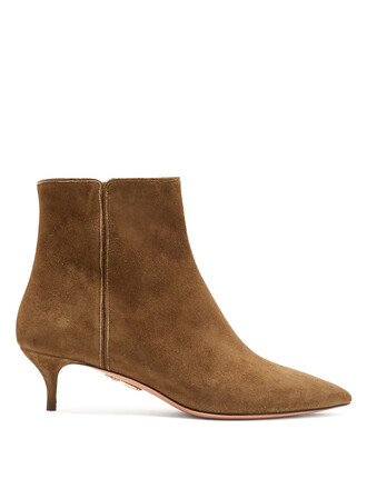suede ankle boots ankle boots suede khaki shoes