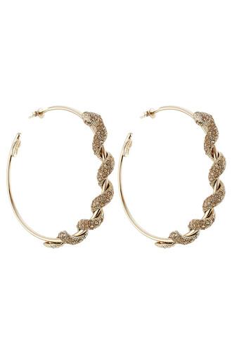 embellished earrings hoop earrings gold jewels