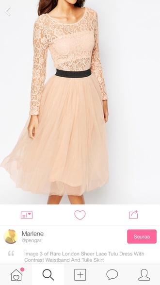 dress pink lace prom
