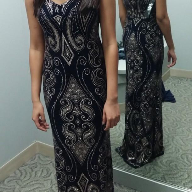c69db667049 dress gold dillard s online black dress prom dress prom prom gown navy dress  navy glitter