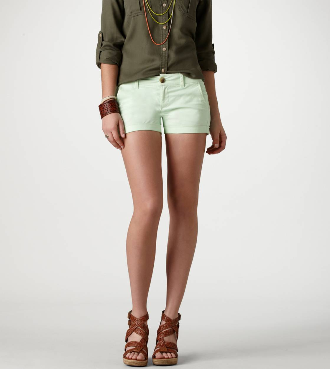 AE Twill Midi Short | American Eagle Outfitters