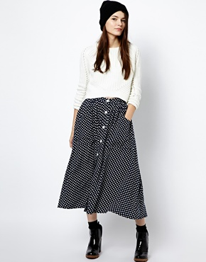 American apparel polka dot skirt at asos