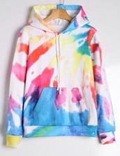 sweater,colorful,jumper,girly,colorblock,hoodie,tie dye sweater,sweatshirt