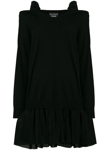 BOUTIQUE MOSCHINO dress sweater dress women cold cotton black
