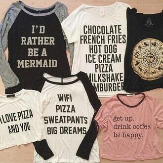 shirt preach cool teenagers choies black t-shirt cool girl style statement tees mermaid graphic tee cool shirts white shirt black shirt printed shirt top cool brands