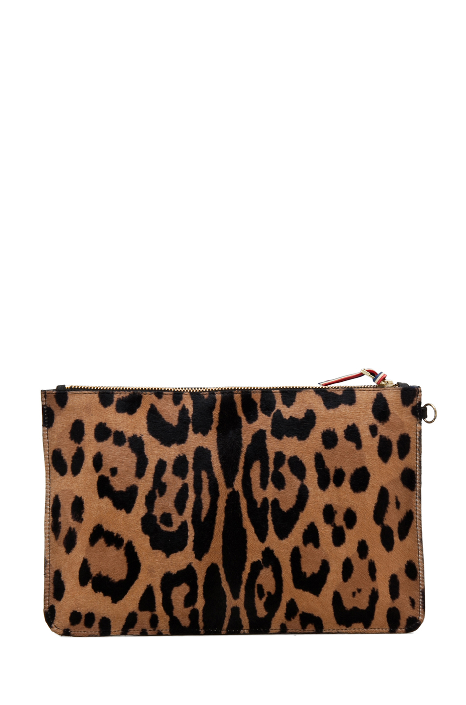 Jerome Dreyfuss|Large Popoche Clutch in Leopard & Multi