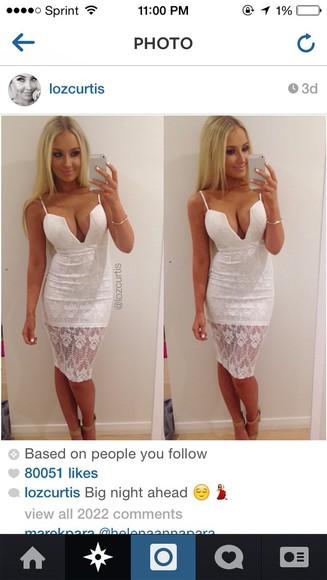 white dress style lace dress