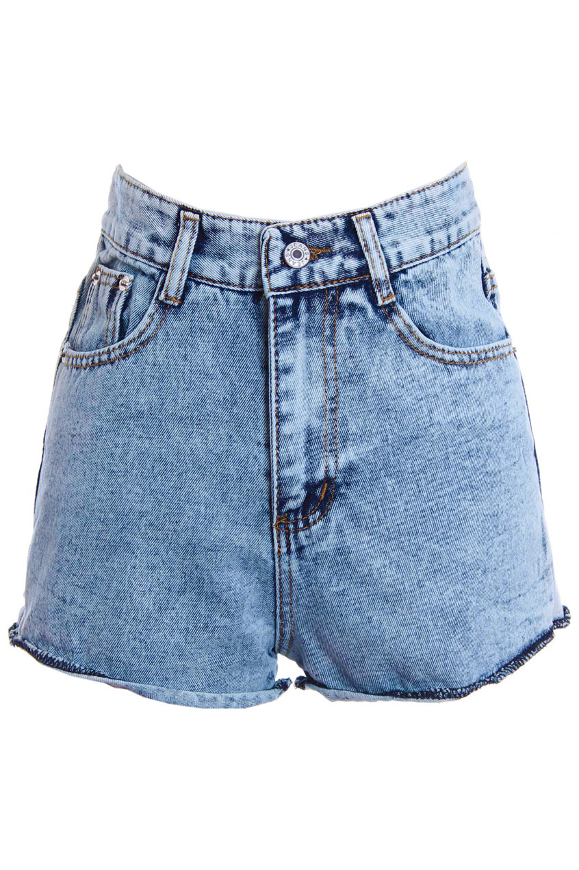 High-Rise Denim Shorts, The Latest Street Fashion