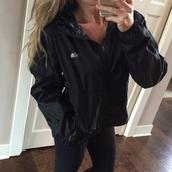 jacket,black,windbreaker