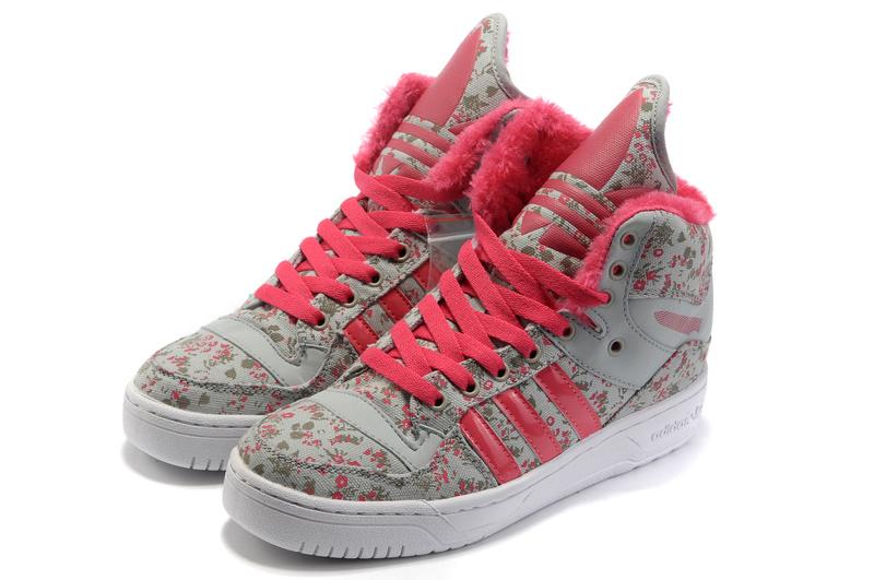 Girl Adidas X Jeremy Scott Big Tongue Shoes Flower Pink,Scott Jeremy Adidas