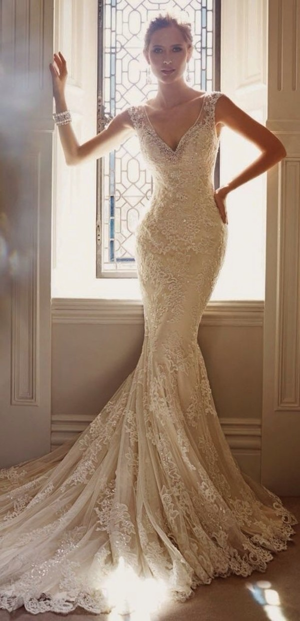 dress white long white dress lace white lace mermaid prom dress prom dress white long dress white lace dress wedding wedding dress skirt lace wedding dress beaded wedding dress evening dress home accessory jacket