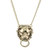 Gold Lion Knocker Necklace, Necklaces, Jewellery, Chunky Chains, all, Shop By Trend, Statement Fashion trends, accessories and jewellery for young women