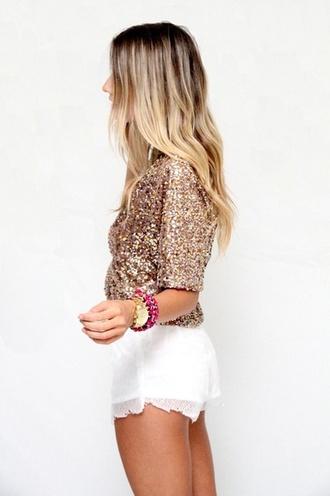 blouse sparkle gold sparkle shirt