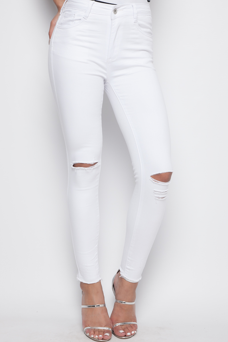 Zara White High Waisted Jeans Size Brand New. $ Time left 2d 9h left. 0 bids. or Best Offer Melville Jeans Brandy Melville White Ripped High Waisted Size 29 Distressed. New (Other) $ or Best Offer +$ shipping. Women Summer Casual High Waisted Short Mini Jeans Ripped Denim Shorts Hot Pants.