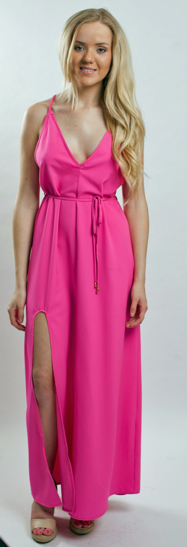 dress maxi hot pink