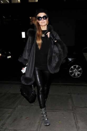 coat cape paris hilton winter coat boots pants