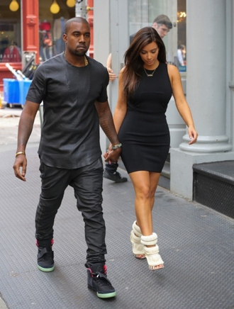 shoes heels style dope kim kardashian kanye west all black everything menswear