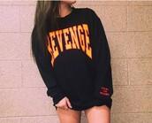 sweater,black,revenge