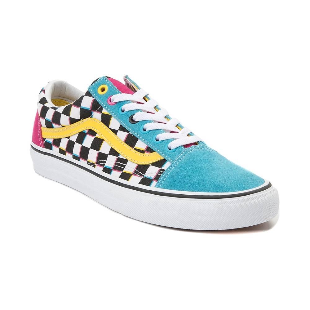 vans old skool chex skate shoe - 50