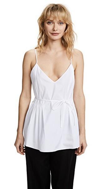 camisole pleated white underwear