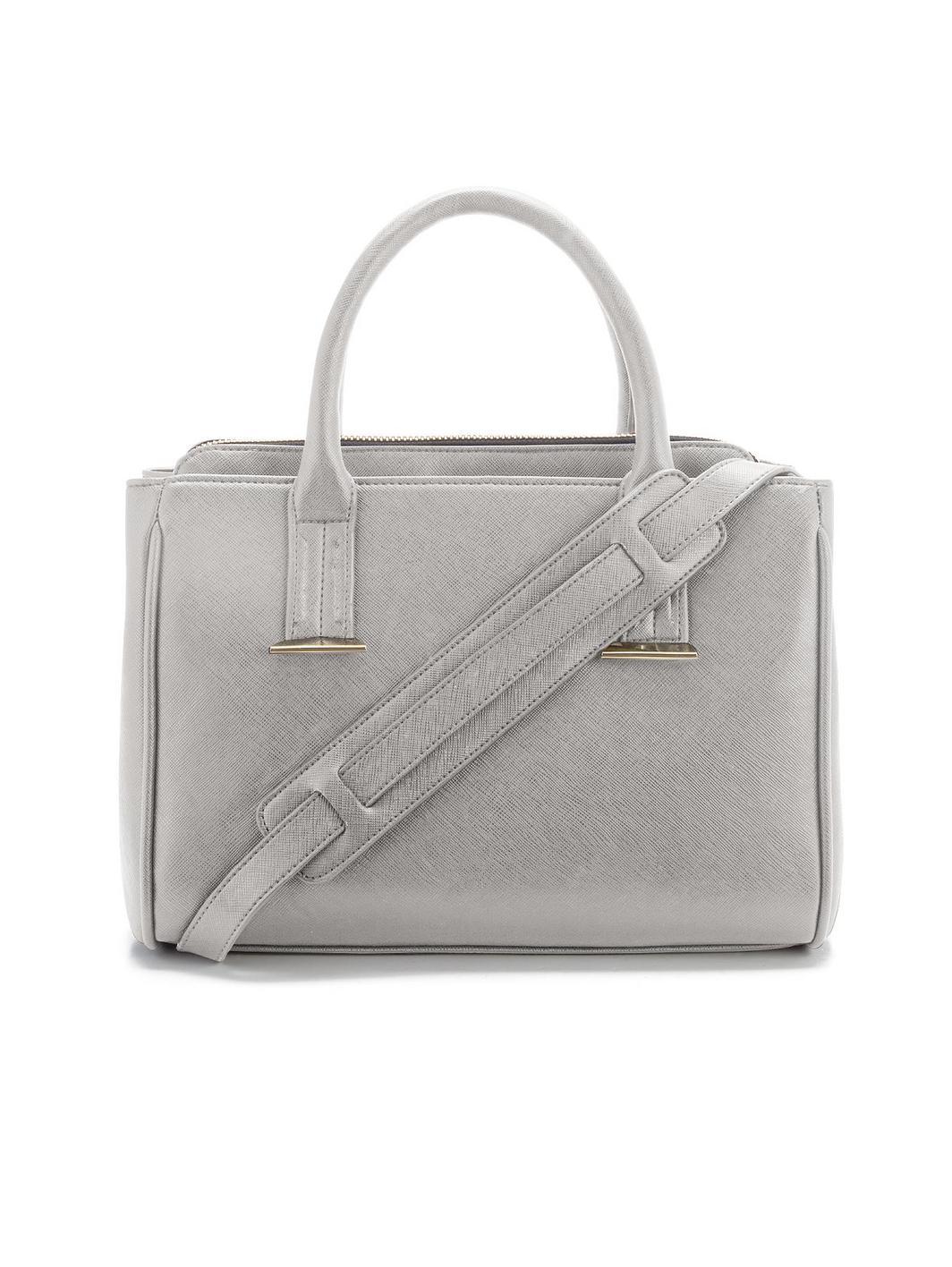 Mini triple compartment tote bag