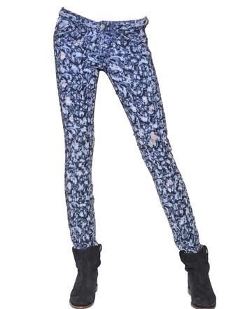 jeans denim embroidered blue