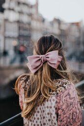 hair accessory,big hair bow,pink bow,hair,bow,hair bow
