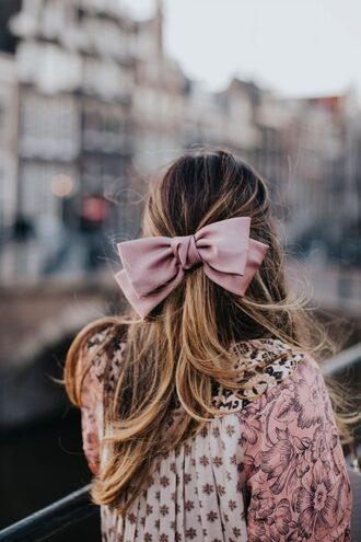 hair accessory big hair bow pink bow hair bow hair bow