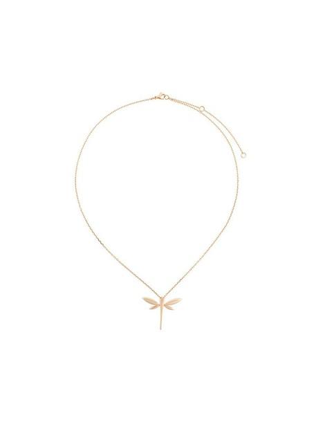 Anapsara rose gold rose women necklace gold grey metallic jewels